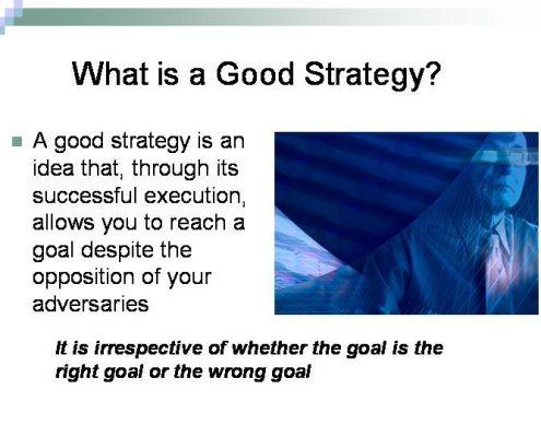 استراتژی خوب چیست؟